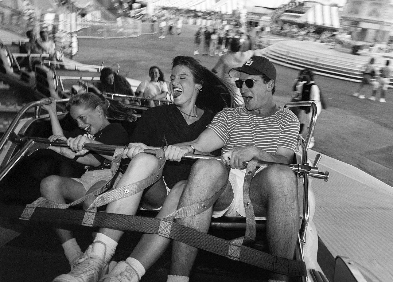 From left: Sarah Hutchison, 9,  Kristine Tewell and Chuck Hutchison from Dallas scream as they fly around on the Love Bug ride in the Midway of the State Fair of Texas on Friday, the first day of the State Fair, Sept 30, 1994.