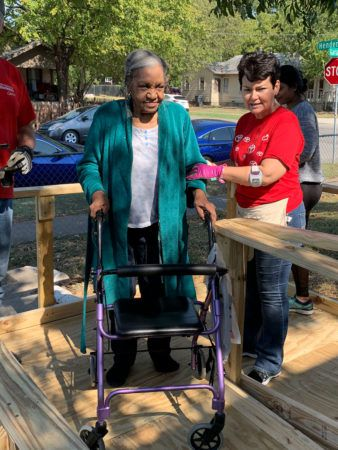 Texas Ramp surprises Florence on her 91st birthday with a new wheelchair ramp.