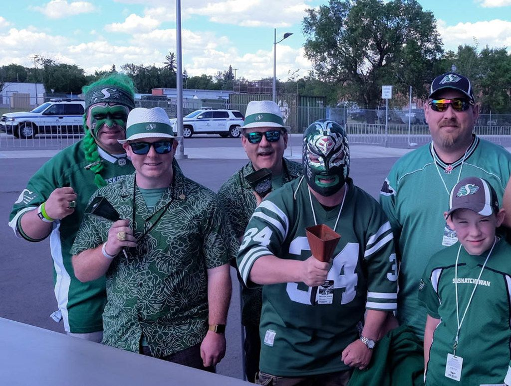 From Hawaiian shirts to Mexican wrestling masks, there's no shortage of costumes that appeal to fans of the Saskatchewan Roughriders, the most beloved team in the Canadian Football League.