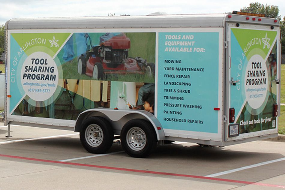 Arlington's tool sharing program was launched earlier this year to help residents with home improvement and property clean-up.