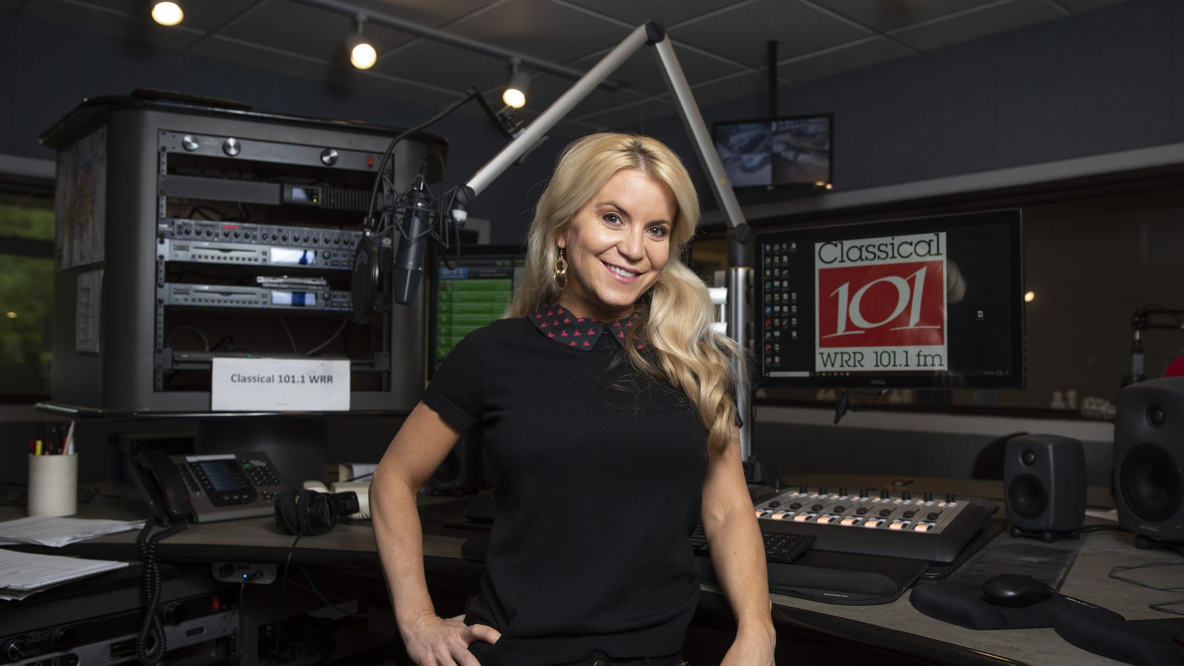 """Amy Bishop, director of marketing and promotions for WRR and host of """"At Work With Amy,"""" at the radio station in Dallas' Fair Park."""