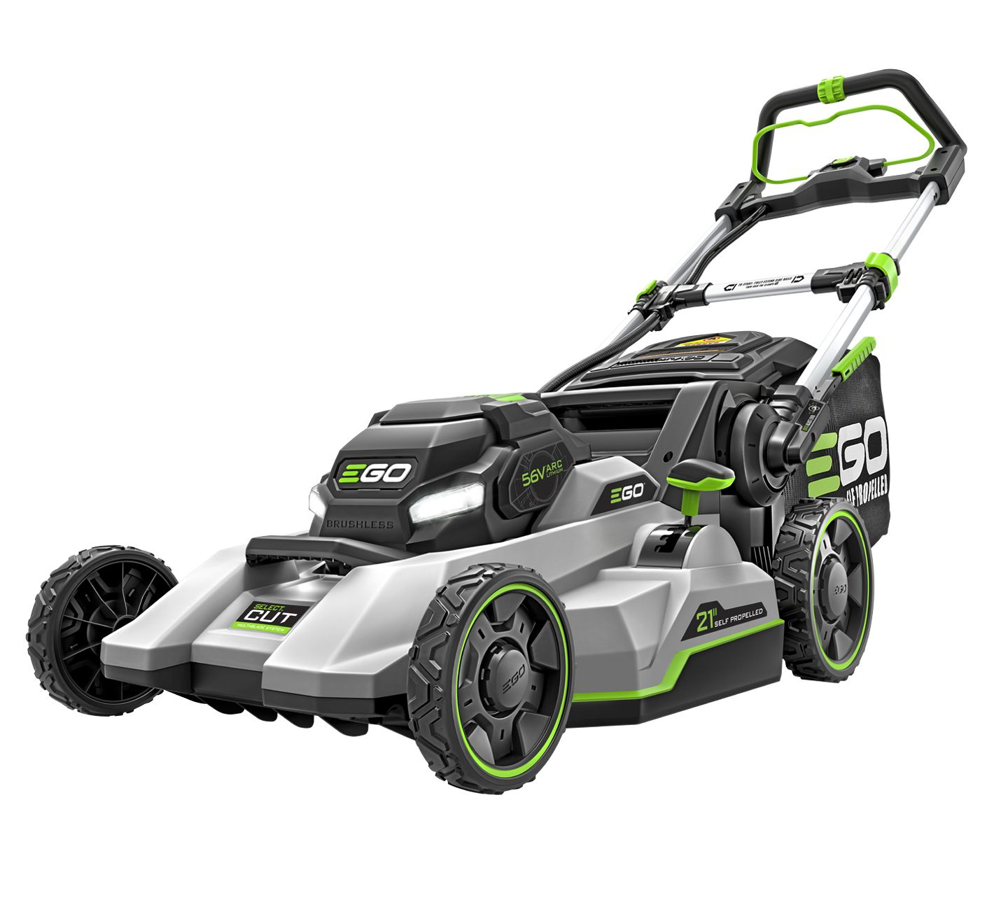 "EGO POWER+ 21"" SELECT CUT MOWER WITH TOUCH DRIVE SELF-PROPELLED TECHNOLOGY"