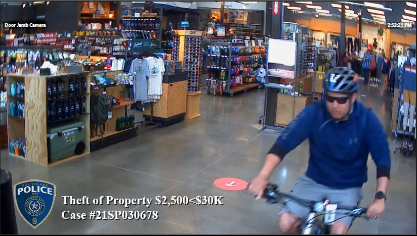 A man allegedly stole a pricey Cannondale bike from REI in Southlake on Saturday afternoon.