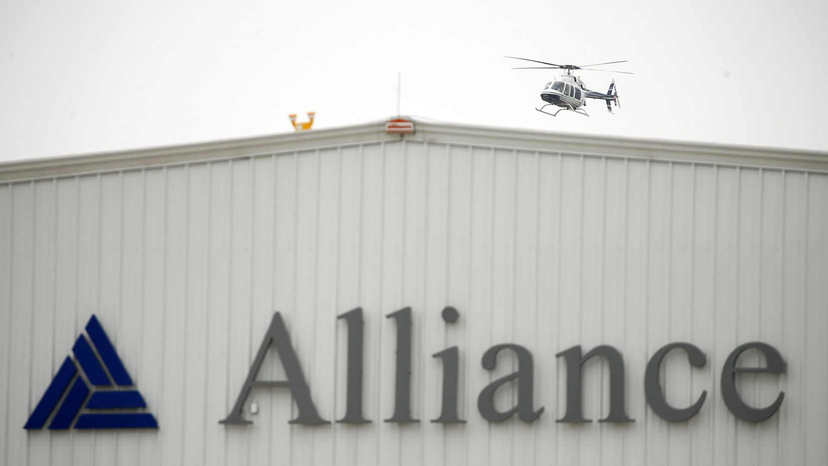 Acting Secretary of Homeland Security Chad Wolf received a helicopter tour around the Alliance Airport area in Fort Worth by Ross Perot, Jr, Thursday, May 21 2020.  (Tom Fox/The Dallas Morning News)
