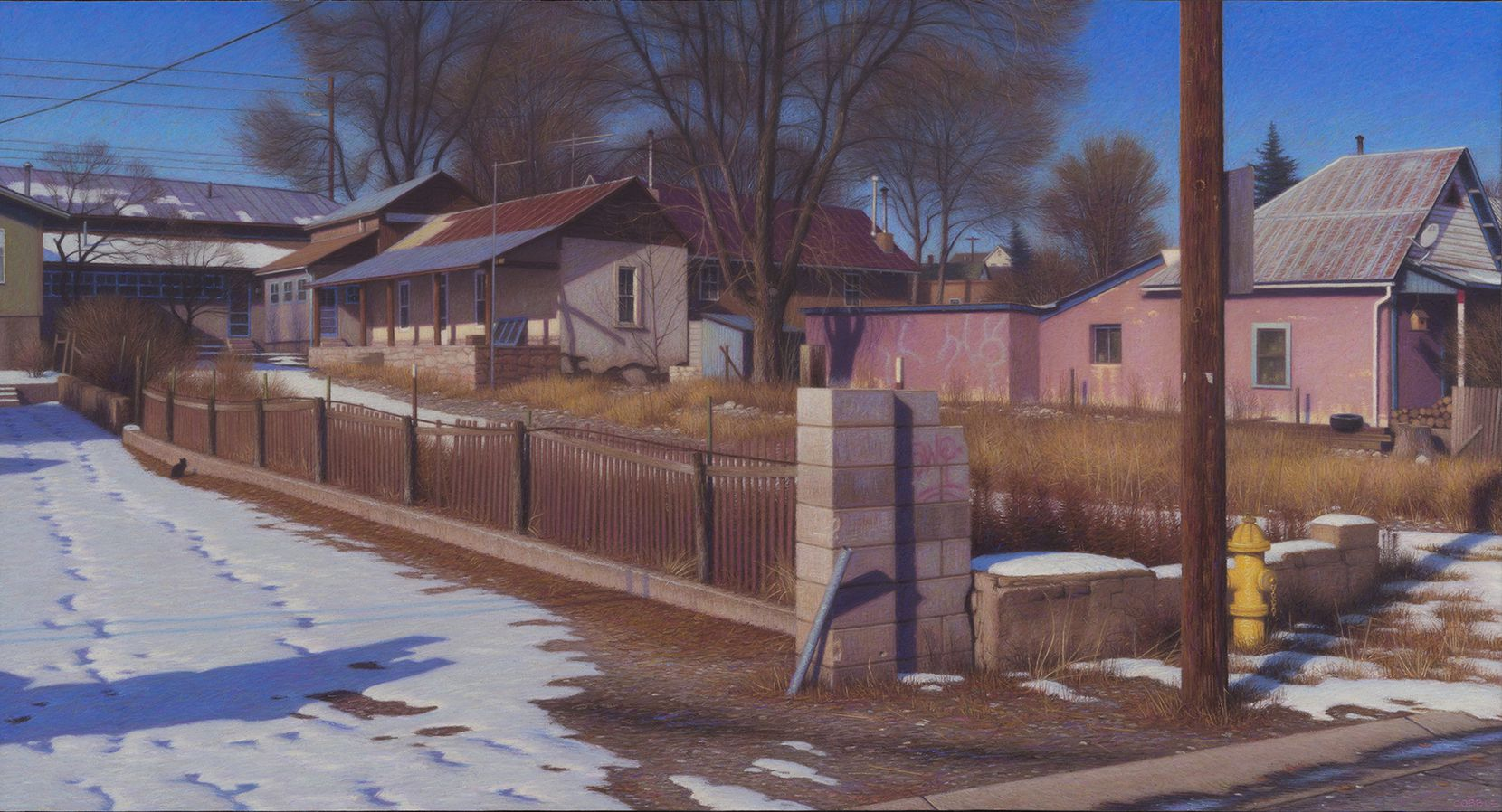 """Brian Cobble, """"Gonzales Street, 2018,"""" part of the new show at Valley House Gallery & Sculpture Garden."""