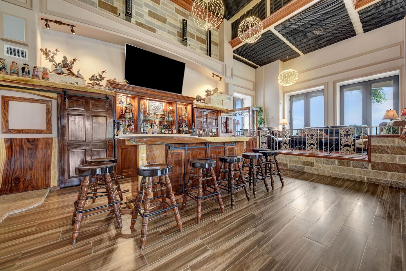Take a look inside this 44,602-square-foot home at 9950 Palestine Road in Brenham. The home sits on more than 230 acres.