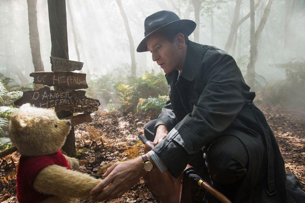 "Ewan McGregor in a scene from ""Christopher Robin."""