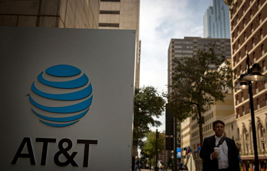 Shot from Commerce Street of AT&T's downtown headquarters Tuesday, October 25, 2016 in Dallas. (G.J. McCarthy/The Dallas Morning News)