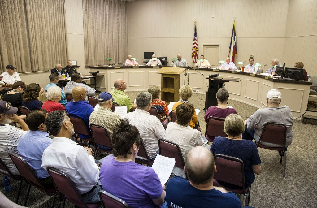 The Farmersville City Council talked Thursday about the proposed Muslim cemetery at U.S. Highway 380 and County Road 557.