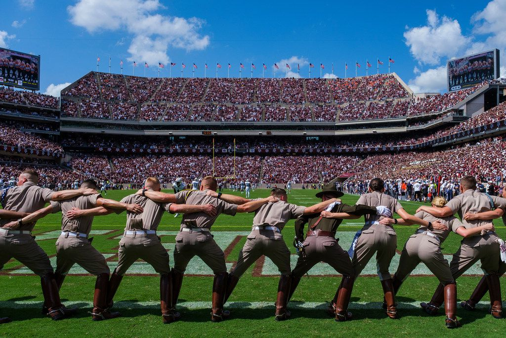Kyle Field prepares for the opening kickoff of the Texas A&M-Auburn game on Saturday, Sept. 21, 2019, in College Station.
