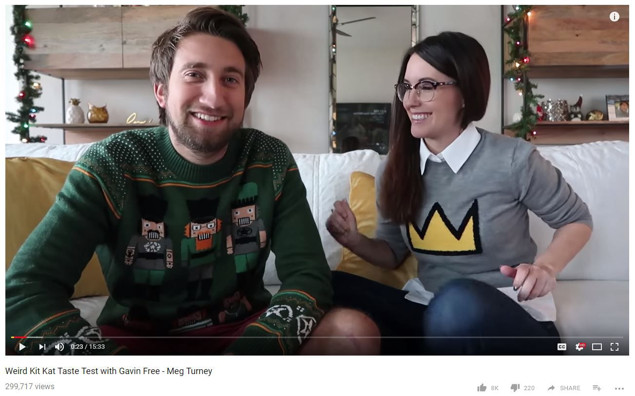 Gavin Free and Meg Turney are both prominent YouTubers.