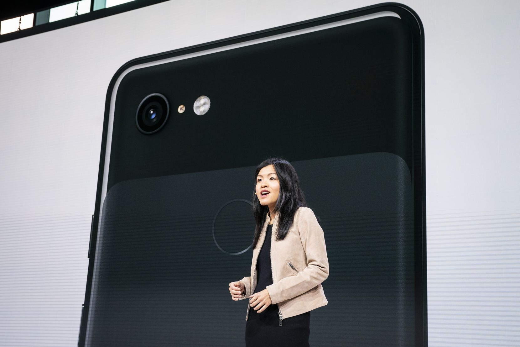 Liza Ma, product manager at Google, discusses the new Google Pixel 3 and Pixel 3 XL smartphones during a Google product release event in October in New York City.