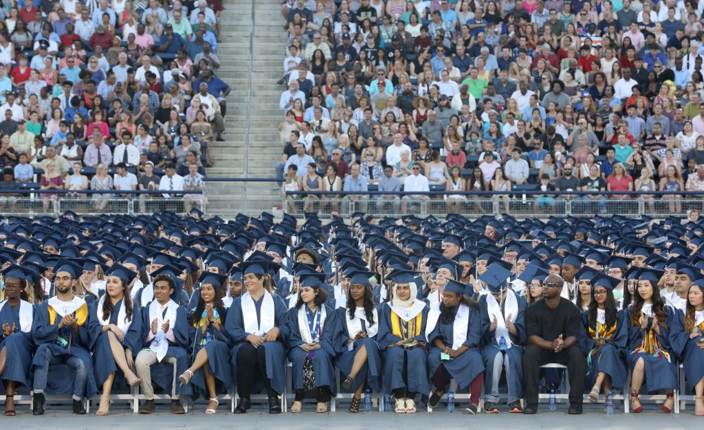 The Allen High School graduation at Eagle Stadium in Allen, Texas, Friday evening, June 1, 2018. (Anja Schlein/Special Contributor)