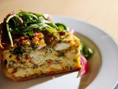 """Bonton Egg Pie, """"aka quiche."""" It sells out fast."""