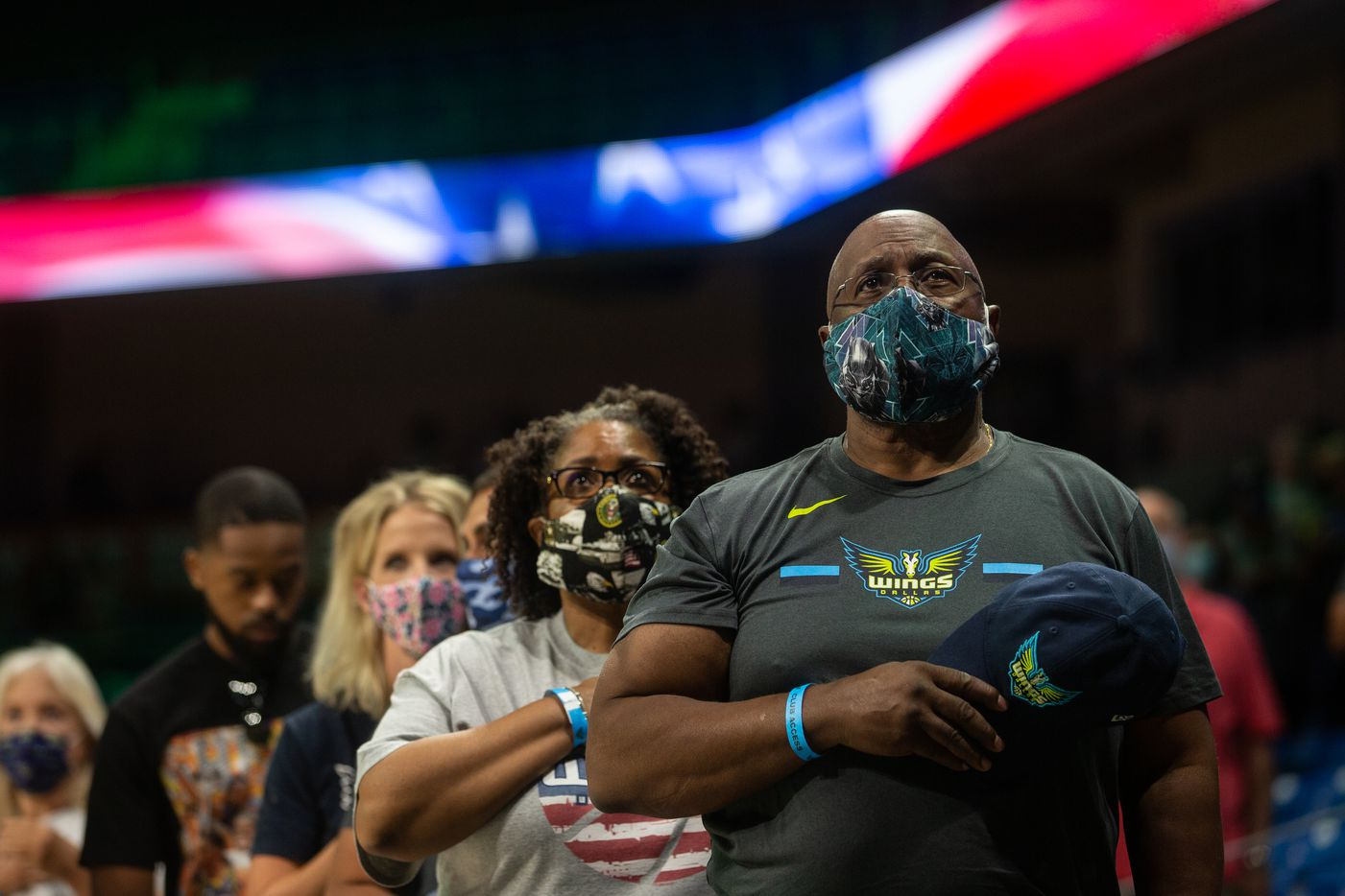 during their game against New York Liberty at College Park Center in Arlington, TX on September 11, 2021.  (Shelby Tauber/Special Contributor)