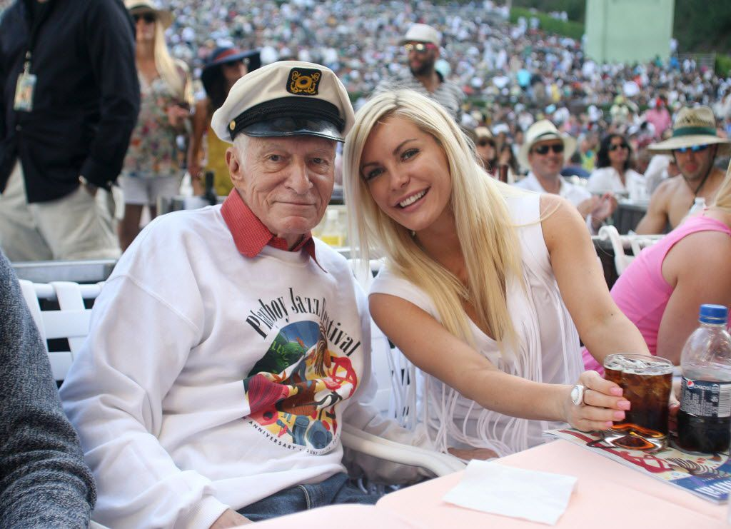 Hugh Hefner and his wife Crystal Hefner in 2013. Hugh Hefner, of Playboy fame, died at age 91.