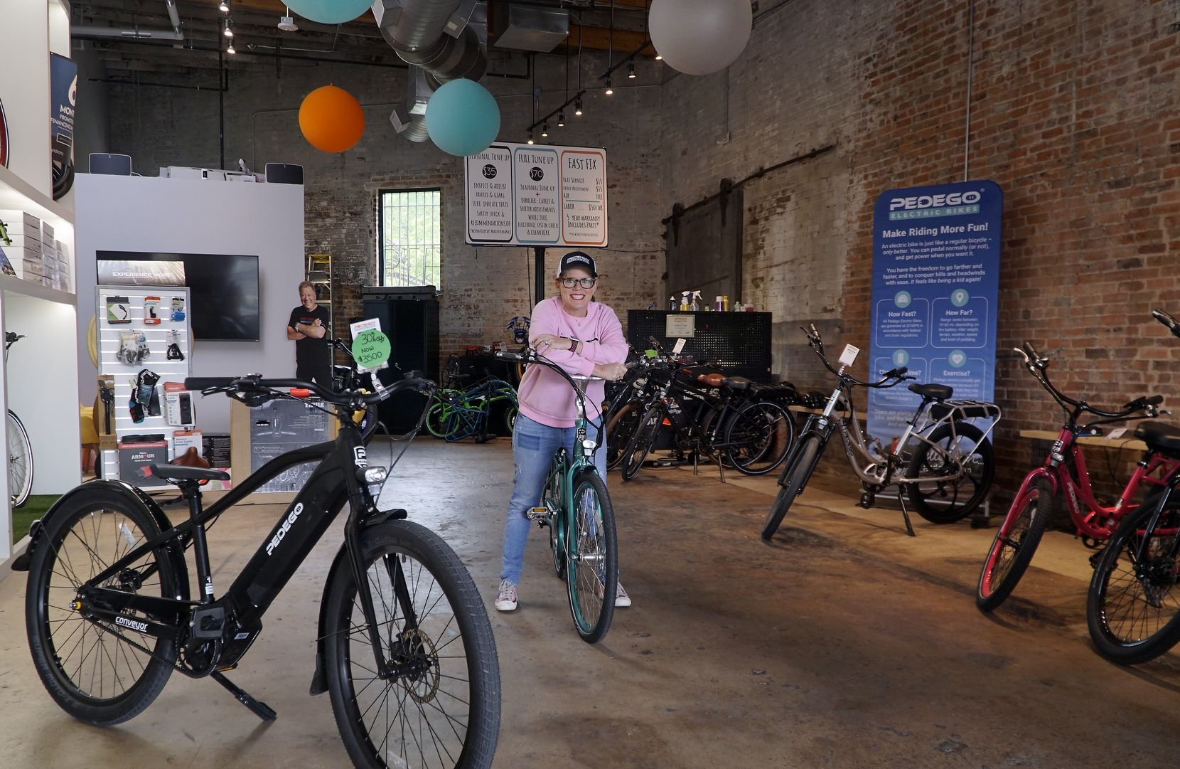 BK Snyder, owner of a Pedego electric bike franchise in Dallas, says interest in this new style of bicycle is increasing.