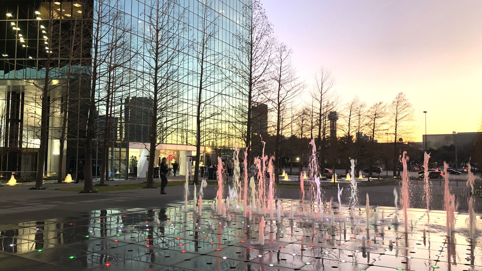 Renovations to downtown's landmark Fountain Place include restoration of the signature  water features.