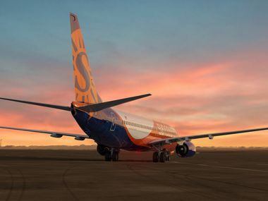 A Sun Country Boeing 737 aircraft.