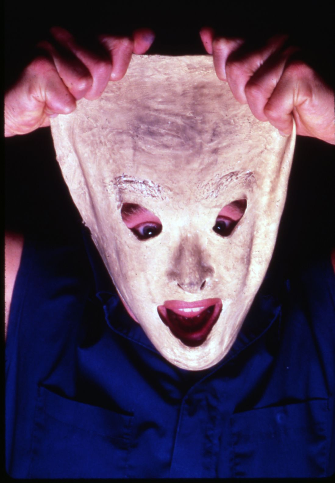 """Fred Curchack uses masks and other visual trickery in his one-man show, """"Stuff As Dreams Are Made On."""""""