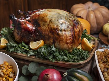 Several Richardson restaurants will offer to-go Thanksgiving dinners. Pictured are items on the Thanksgiving menu from DIVE Coastal Cuisine in Dallas.