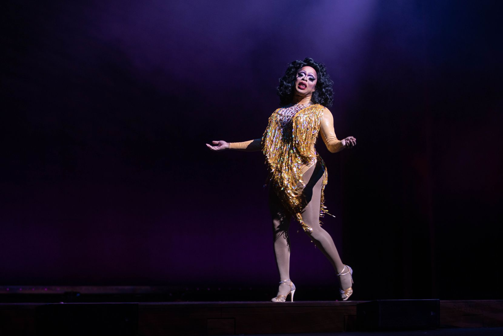 "Kennedy Davenport performed a number during the ""Rose Room on the Road"" drag show at the Winspear Opera House on Dec. 5, 2020."