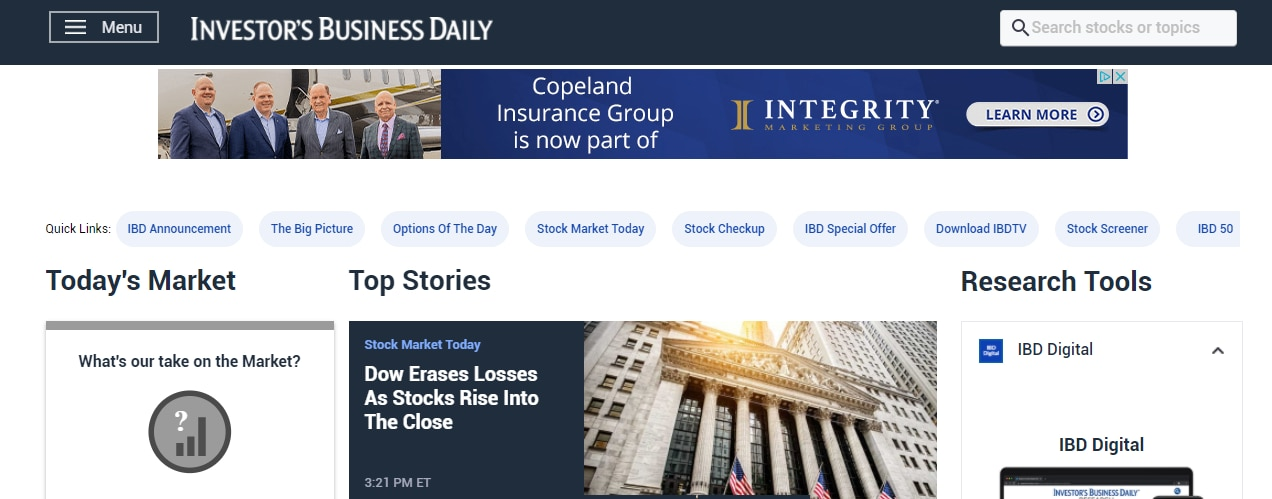 News Corp. is buying Investor's Business Daily in a $275 million deal.