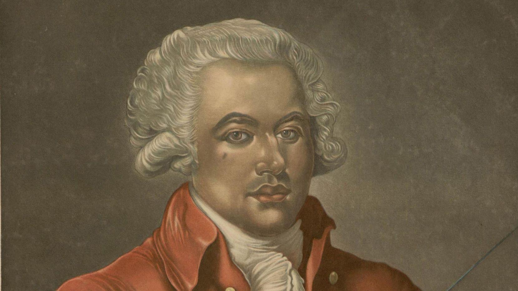 Portrait of Joseph Bologne, also known as Chevalier de Saint-Georges (1745-1799), circa 1780. Found in the collection of Bibliothèque de l'Ecole Nationale des Beaux Arts.