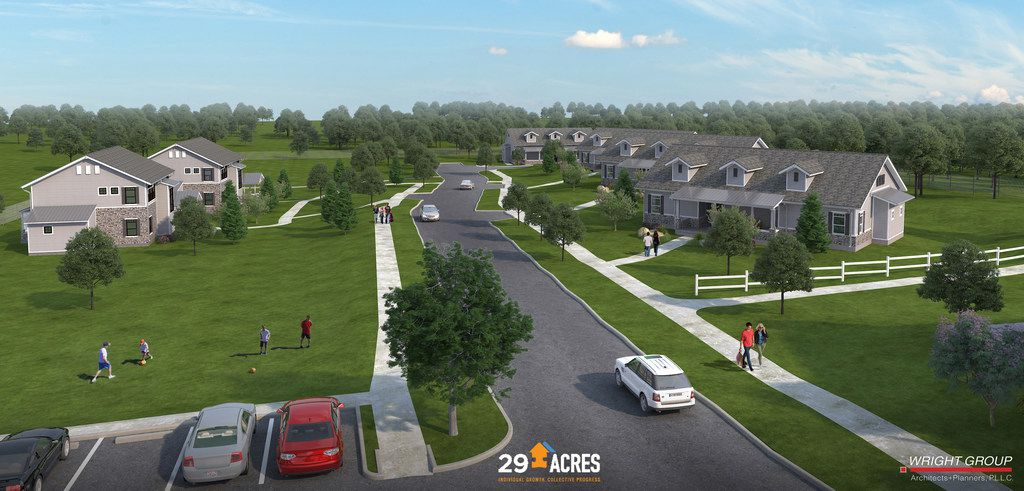 Artist's rendering of 29 Acres, a supportive living community for adults 18 and older with autism, which breaks ground Oct. 13, 2018.