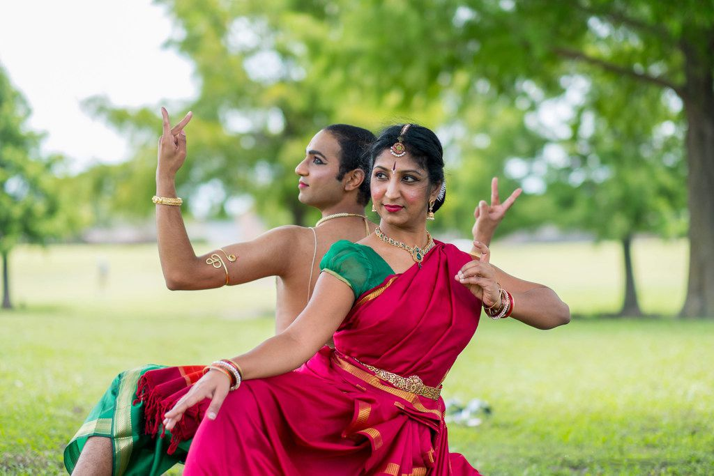 Tejas Dance founder and director Bhuvana Venkatraman and dancer-choreographer Chintan Patel will perform their piece Ardhanareeshwara. (Photo by Siddhant Marar)