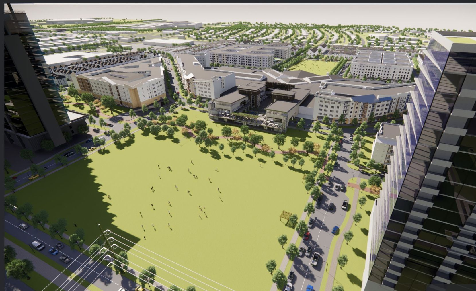 Plano's Collin Creek development will have shops, restaurants, homes, apartments and offices surrounding a park.