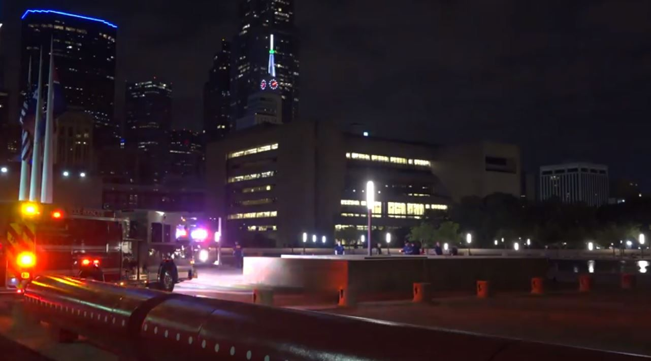 A man drowned late Friday in the reflecting pool at Dallas City Hall.
