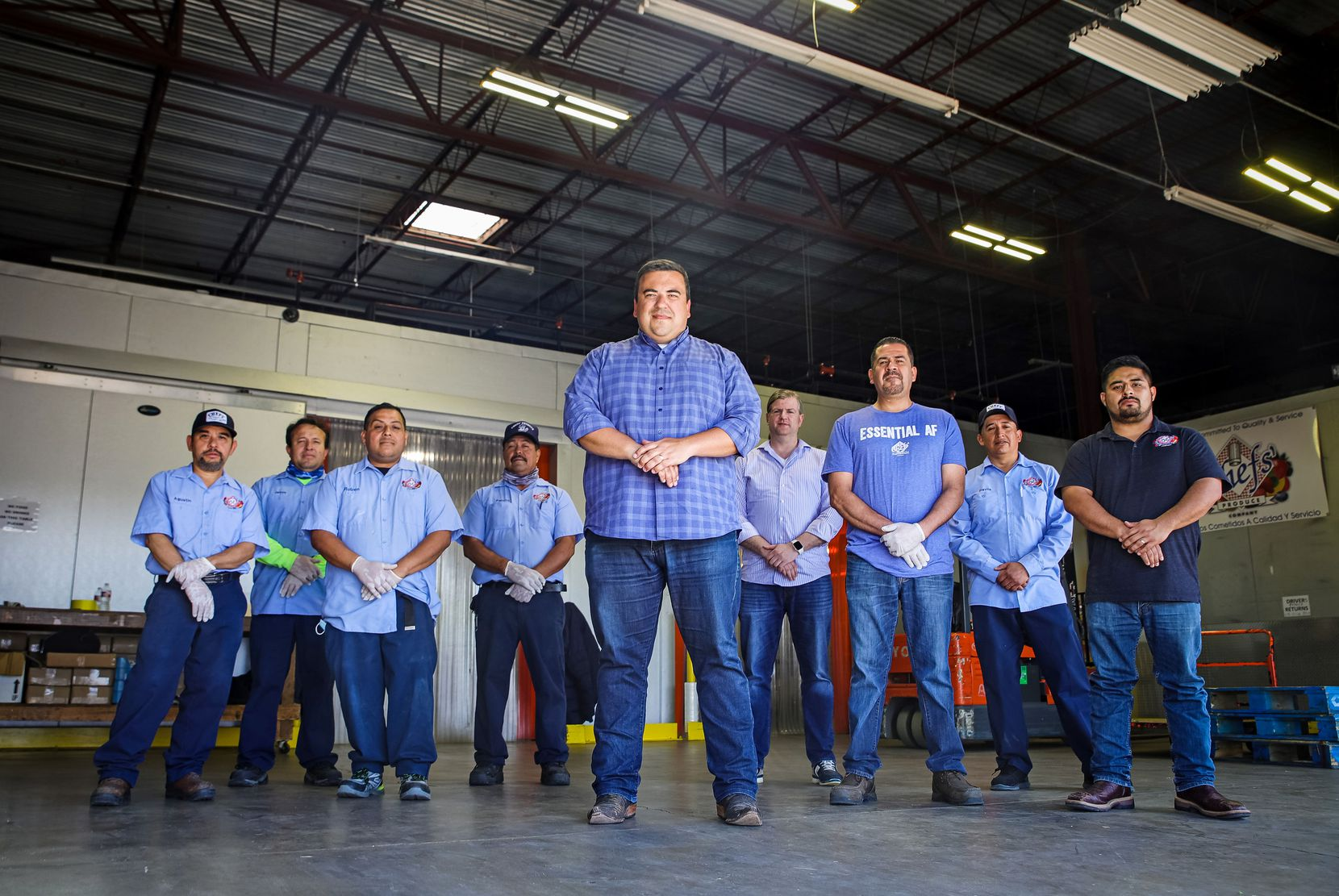 Richard Torres of Chef's Produce wholesale company and his team