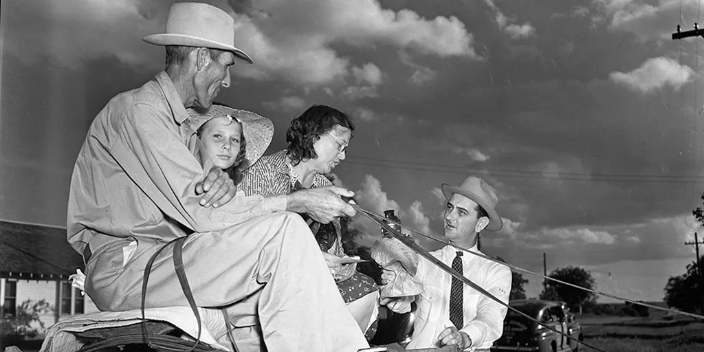 Rookie Congressman Lyndon Baines Johnson worked hard to convince Hill Country families to sign up for electricity.