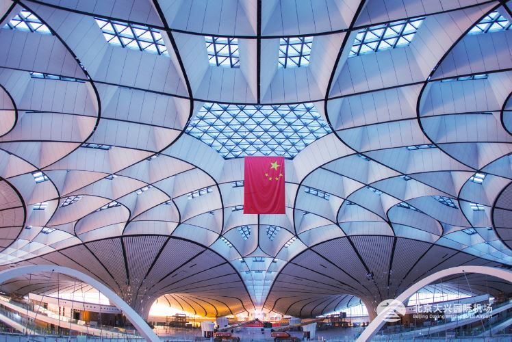 Terminal at Beijing Daxing International Airport in China.