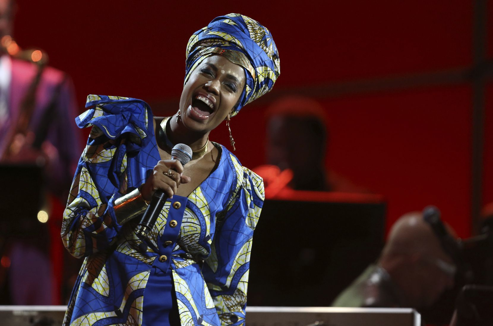 Jazzmeia Horn performs at the 60th annual Grammy Awards at Madison Square Garden on Sunday, Jan. 28, 2018, in New York.