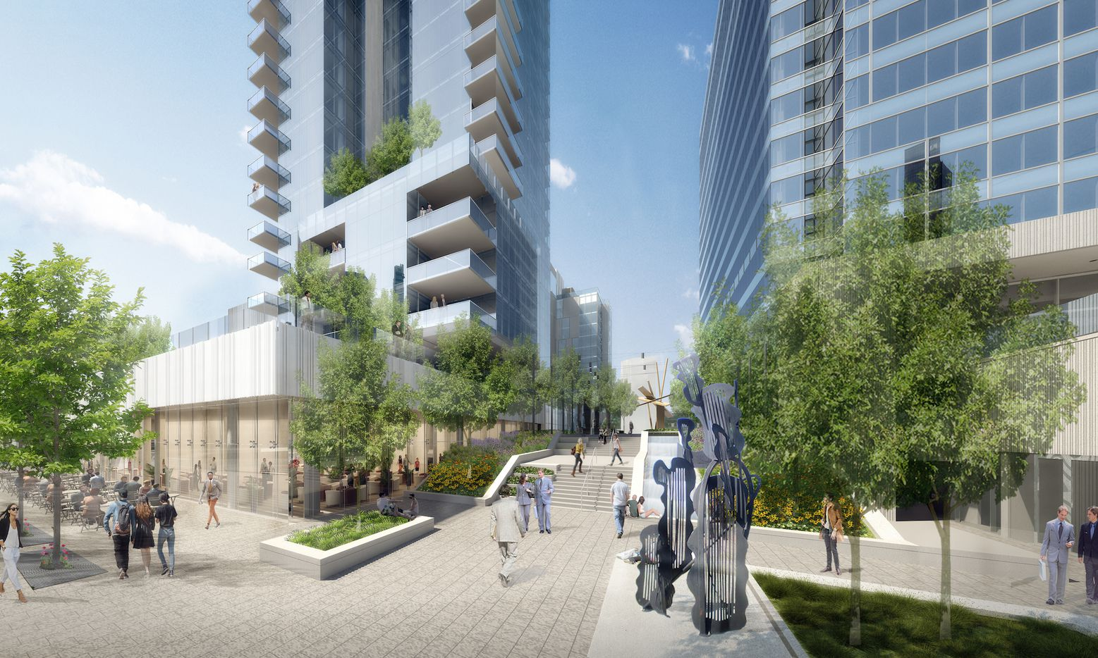 Developer Craig Hall's planned Ross Avenue  condo and hotel tower will be next door to the developer's new KPMG Plaza office building.