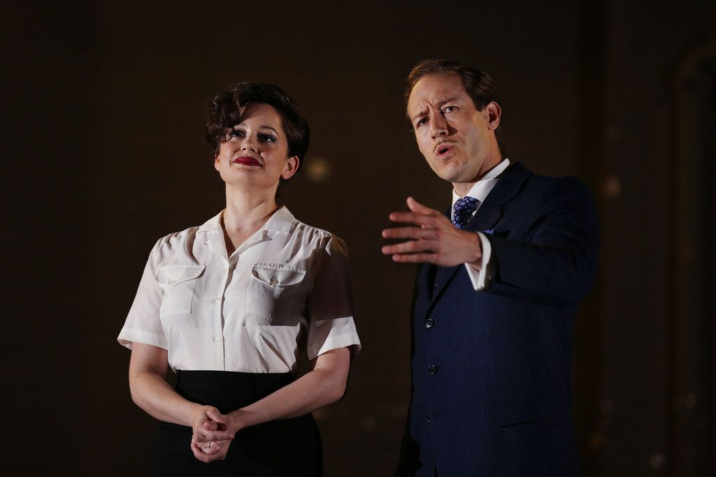 "Lyric Stage, which prides itself on including Dallas-Fort Worth actors in its productions, features Janelle Lutz (left) and Christopher J. Deaton in ""Guys and Dolls"" June 8-10. This classic Frank Loesser musical about gamblers, which won the Tony Award for best musical in 1951, winds up a season that's been a gamble for the company as it finds its footing in its new home at the Majestic Theatre in Dallas."