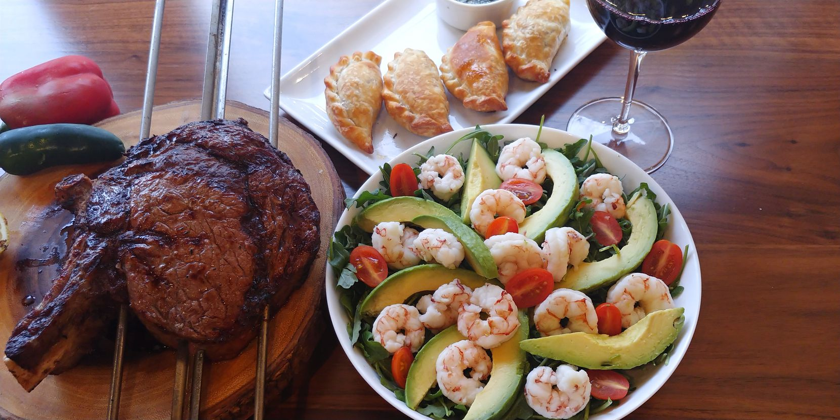 12 Cuts Brazilian Steakhouse offers prime cuts of meat, the avocado and shrimp salad and beef empanadas as part of its Easter offerings this year.
