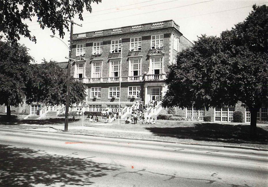 An undated photo of James Madison High School, previously named Forest Avenue High School.
