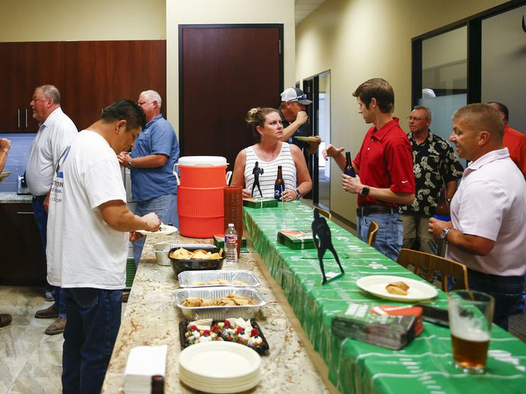 Employees gathered for a happy hour at K2 Construction in September.