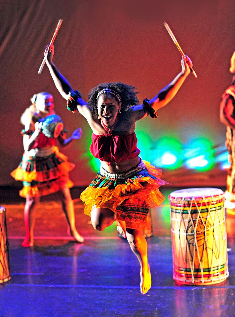 Bandan Koro African Drum & Dance Ensemble performs in the traditional style practiced in Guinea and other West African countries.