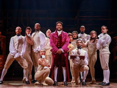 A scene from the national tour of Hamilton, which will play Bass Performance Hall in Fort Worth in 2020.