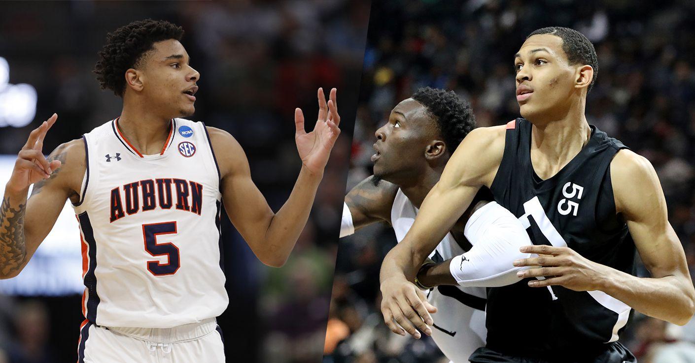 2019 NBA draft prospects Chuma Okeke (5, left) and Darius Bazley (55, right).