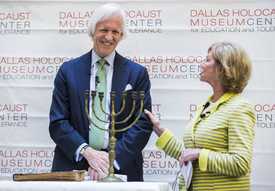 Former state Sen. Florence Shapiro helped Monuments Men founder Robert Edsel announce two donations to the Dallas Holocaust Museum. Shapiro, the daughter of two Holocaust survivors has pledged to raise $250,000 for the museum experience fund.