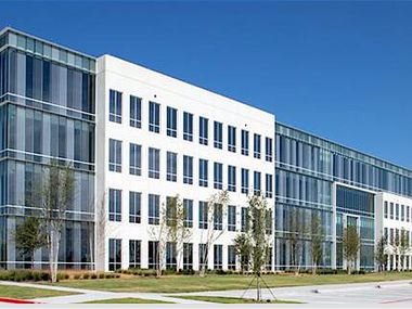 The new office building is near the northwest corner of the Dallas North Tollway and Bush Turnpike.