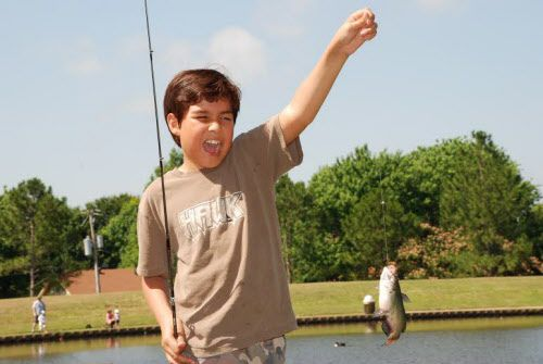 A survey conducted last year indicated that five Neighborhood Fishin  program lakes in North Texas drew about 12,000  new anglers , more than half of them children. The lakes are regularly stocked with channel catfish to keep success rates high.