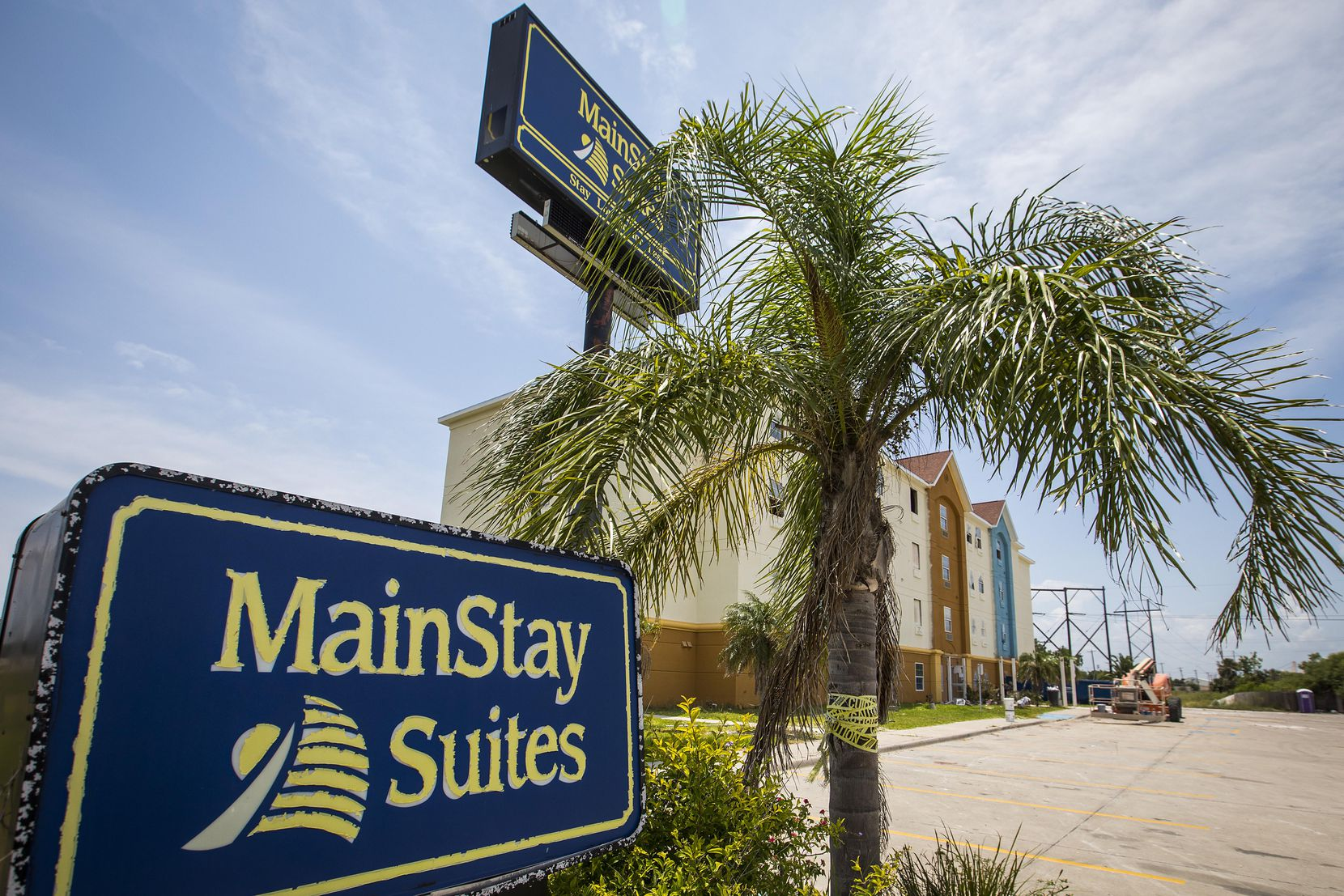 The MainStay Suites in Ingleside sustained damage from Hurricane Harvey last August. Crews were still working on the hotel earlier this summer.