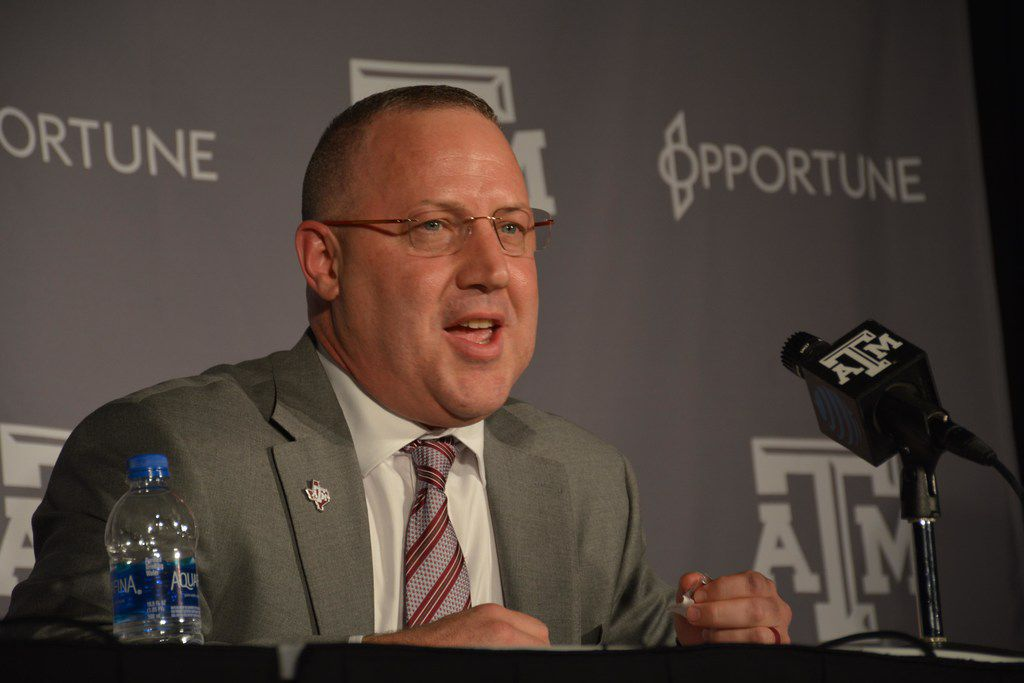 New Aggies basketball head coach Buzz Williams speaks after he was officially welcomed Thursday, April 4, 2019.