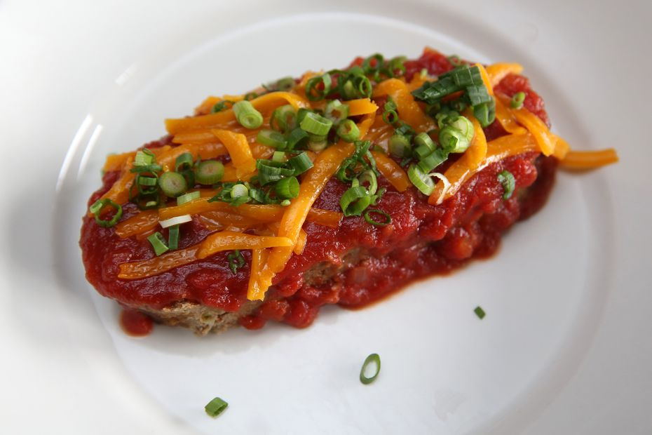 The local grass-fed meatloaf at Celebration comes with a tomato sauce, scallions and cheddar cheese or white wine mushroom sauce.